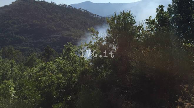 Incendio nella frazione di Olle