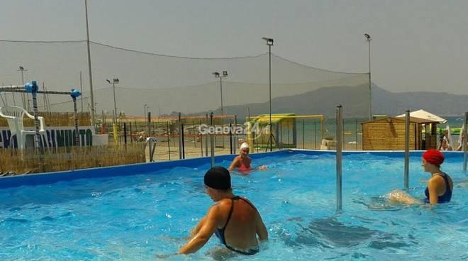 Nuovo spazio estivo per l'Asd Chiavari Nuoto