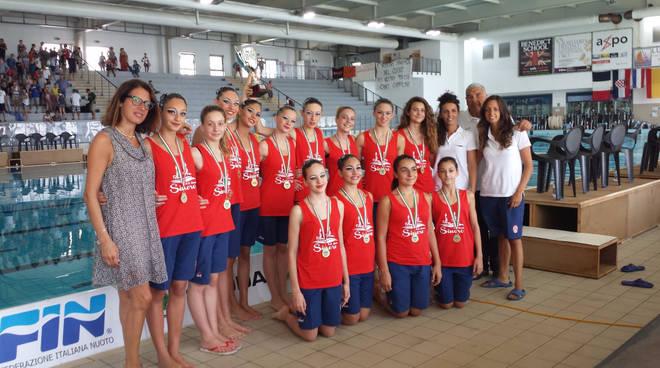 Sincro terminati gli italiani ragazze carisa savona oro nella squadra - Piscina zanelli savona ...