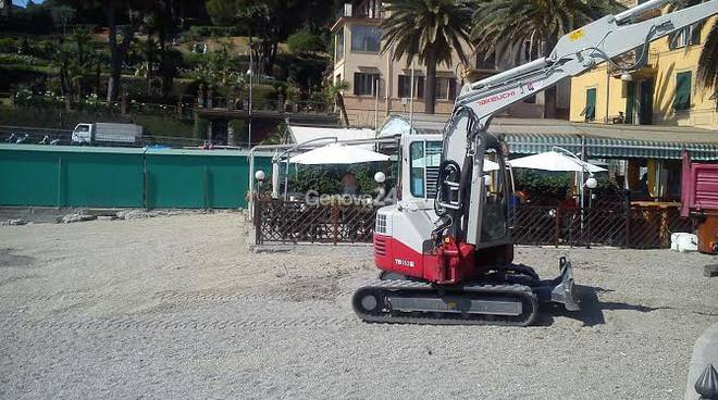 Ripascimento della spiaggia di San Michele a Rapallo