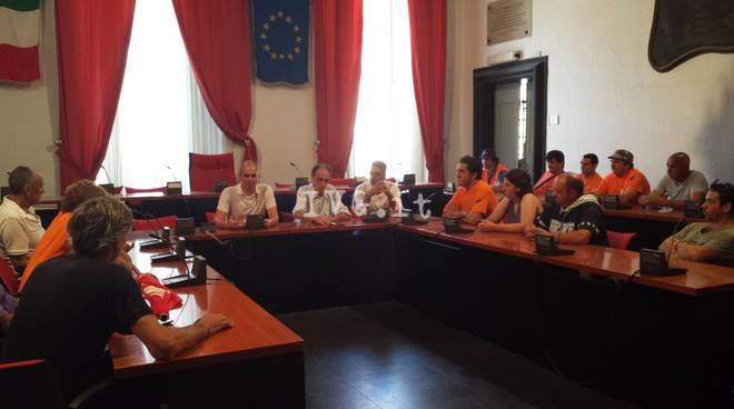 Sciopero dipendenti Teknoservice di Albenga