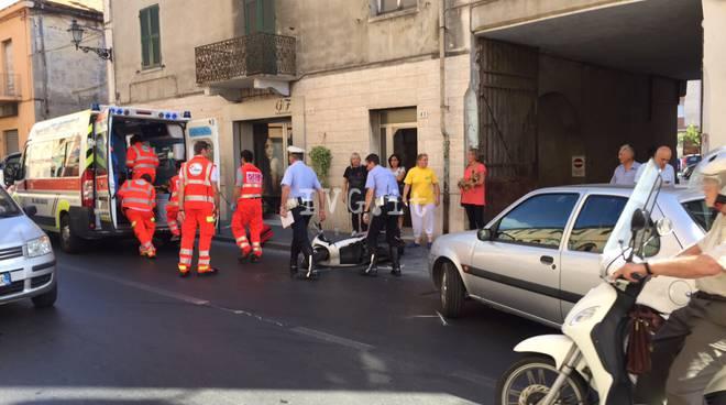 Scontro auto-scooter ad Albenga