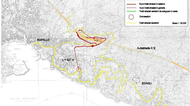 Secondo casello autostradale tra Rapallo e Zoagli, il progetto del 2007