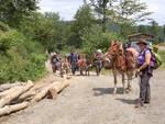Trekking con gli asini sull'alta via dei monti