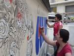 Un murales per l'Avis di Cairo