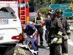 vigili del fuoco auto ribaltata a7