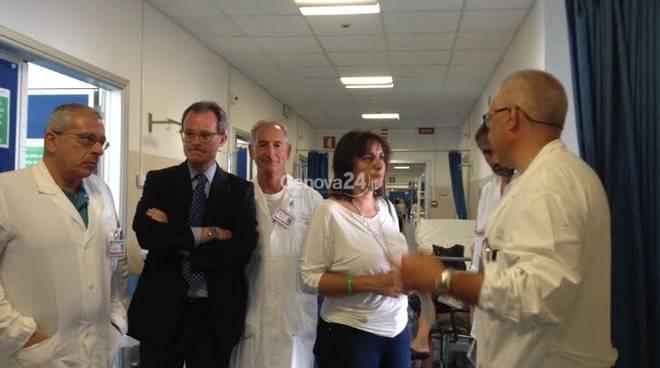 Visita di Sonia Viale al pronto soccorso del San Martino