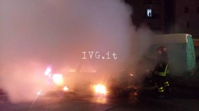 Auto in fiamme, Loano