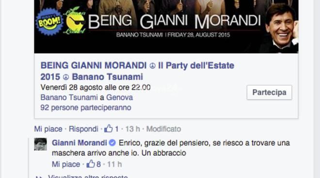 Gianni Morandi risponde all'invito