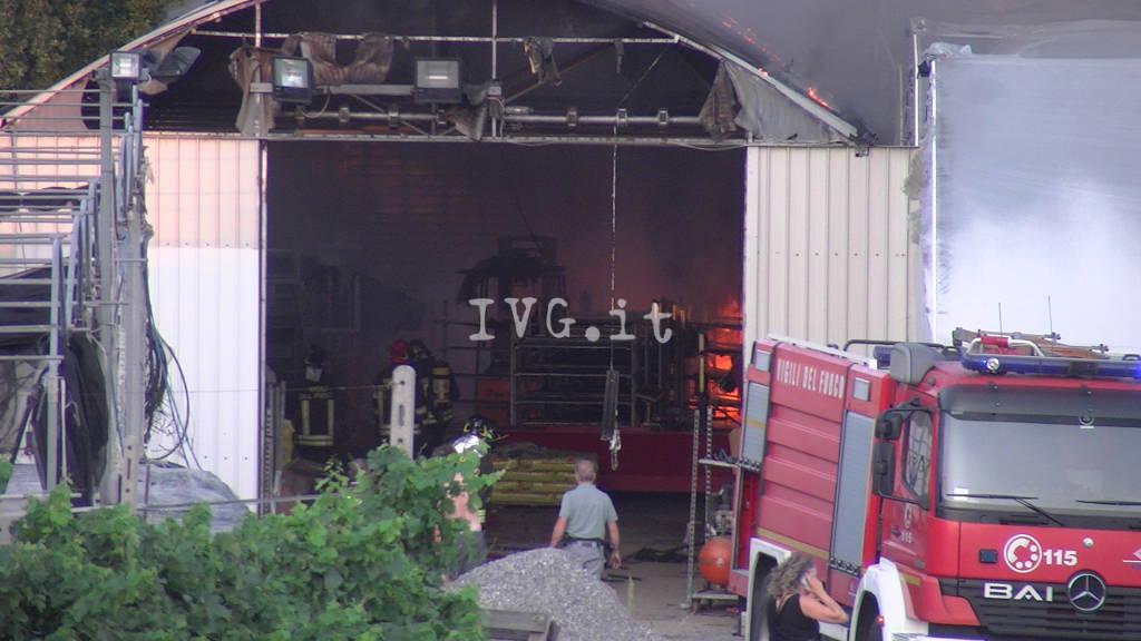 Incendio serre Albenga