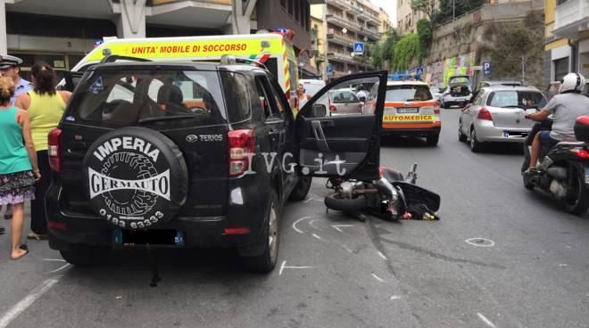 incidente scooter via cavour