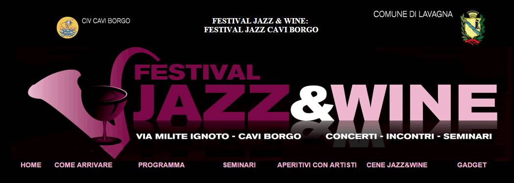 jazz & wine festival cavi di lavagna