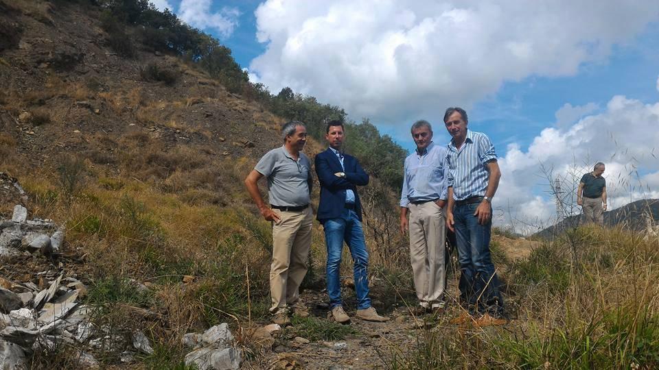 Sopralluogo dell'assessore Giampedrone a Leivi e Carasco
