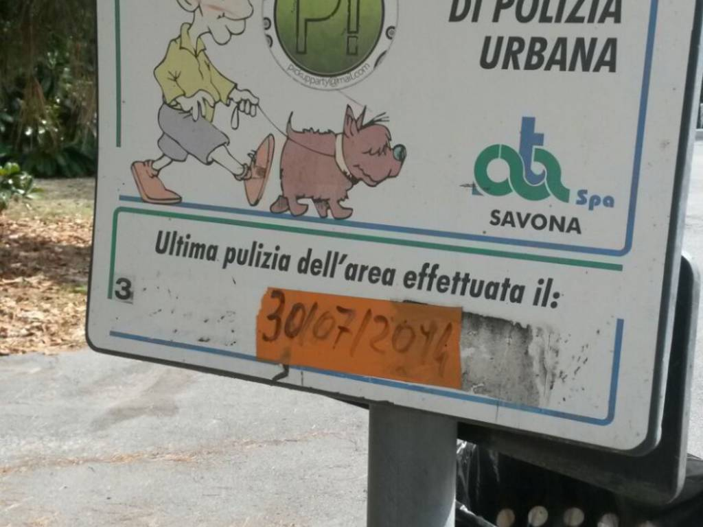 area canina pulizia