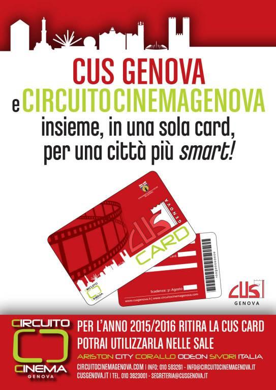 Cus Card: Cus Genova e Circuito Genova Insieme per una città più ...