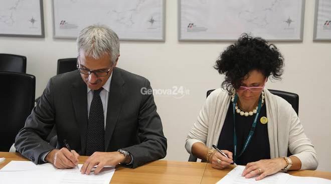 Giulietta Pagliaccio (Fiab) e Maurizio Gentile (Rfi)
