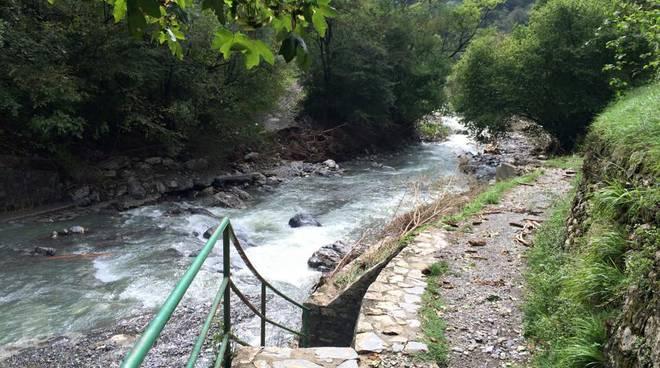 Maltempo, crollato il ponte che porta al canile di Davagna