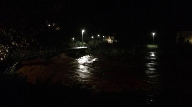 Maltempo, il torrente Lavagna