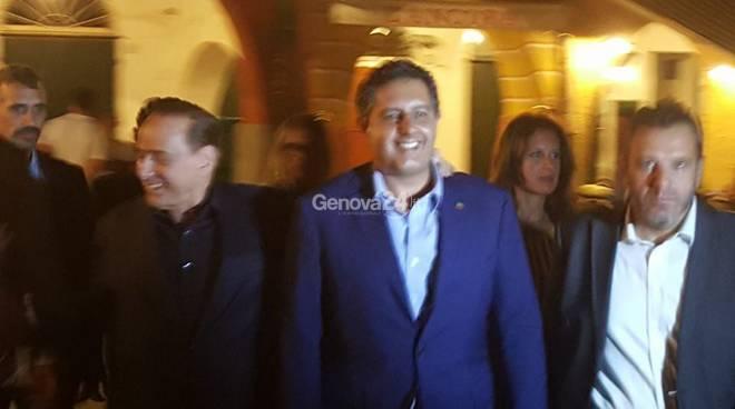 Silvio Berlusconi e Giovanni Toti a Portofino