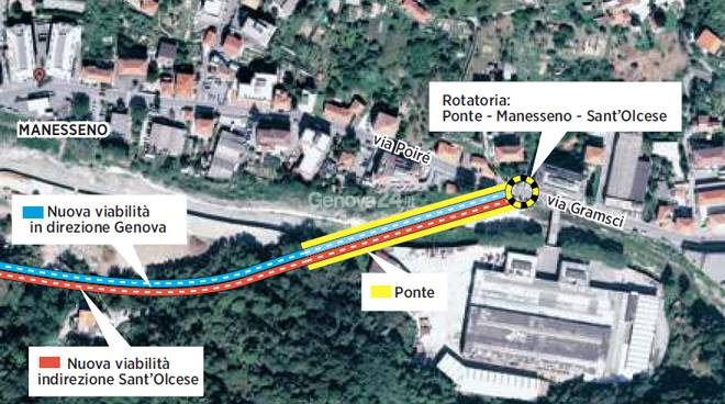 Variante e ponte di Manesseno