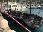 yacht bruciato alassio