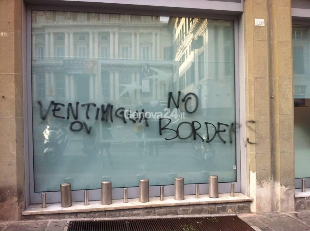Atti vandalici pro no borders