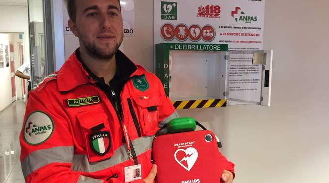 croce bianca genovese aeroporto defibrillatore