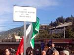 Intitolazione della piazzetta a Francesco Maria Ruffini