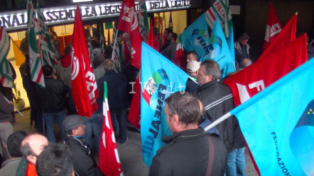 Protesta Edili Liguria