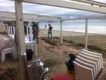 spiaggia alassio mareggiata