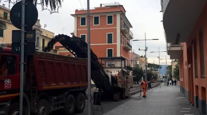 Loano Lavori Asfaltatura Corso Roma