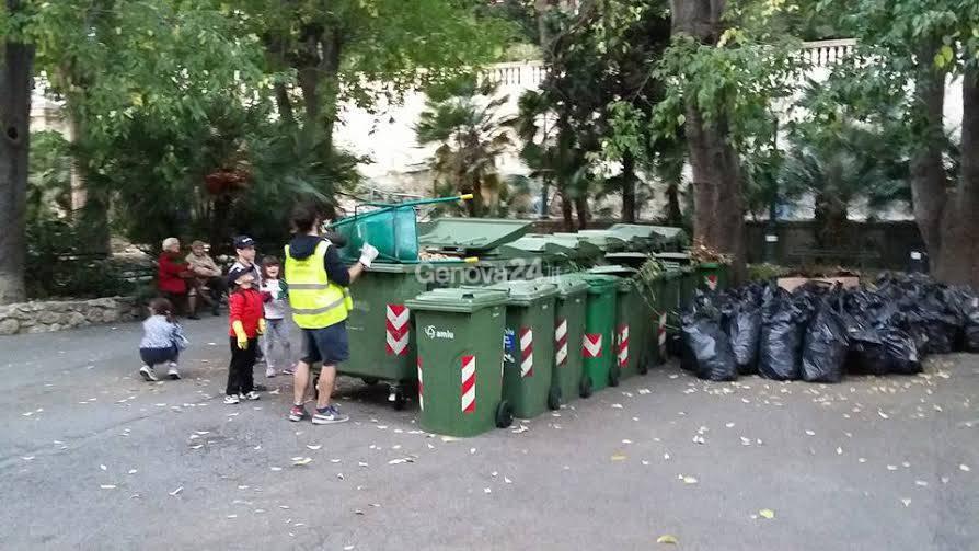 Giornata ecologica a Villa Scassi