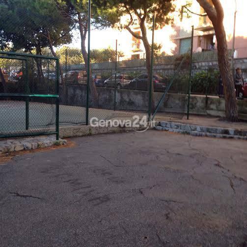 Il cortile della scuola Cicala