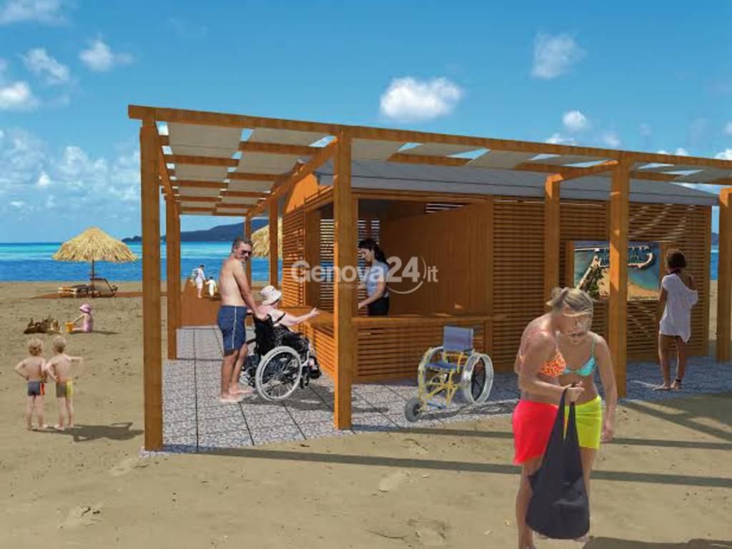 Progetto spiaggia disabili a Chiavari