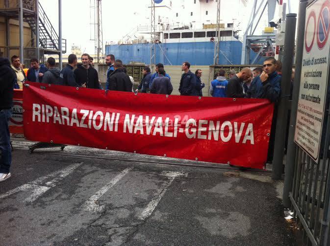 Protesta dei portuali