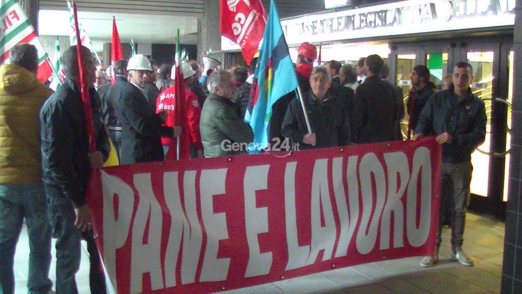 Protesta lavoratori edili