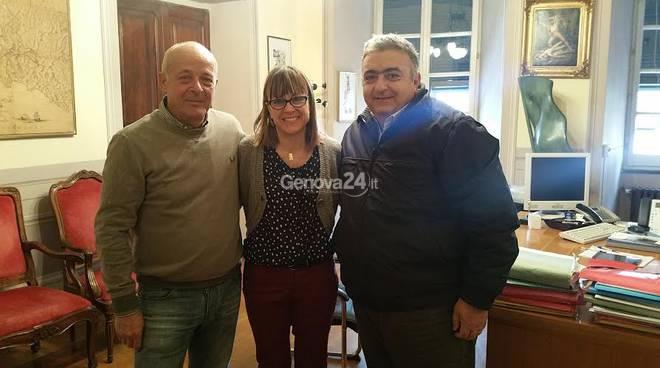 Angelo Siclari, Roberto Morandi (Aco Liguria) e Valentina Ghio