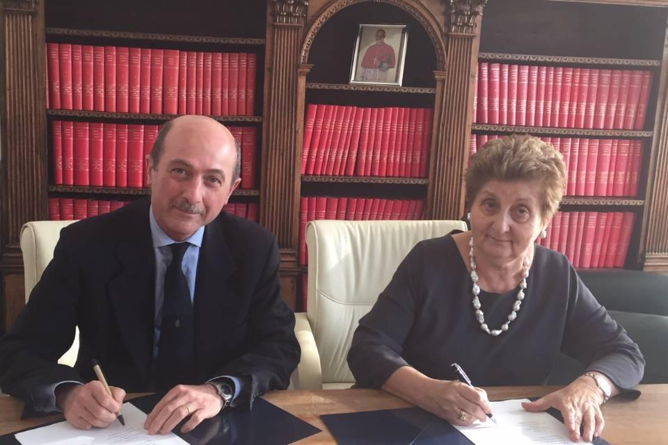 firma accordo Gaslini-Bambino Gesù