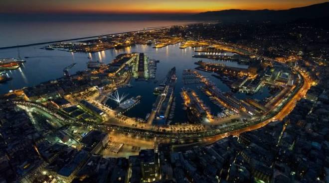 Genova dall'alto panorama