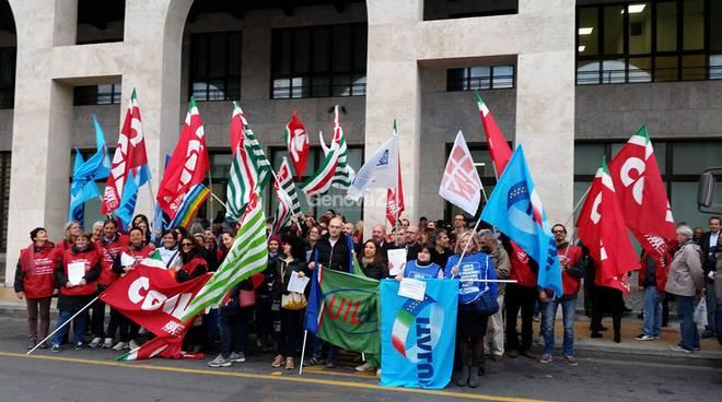 La protesta dei Patronati a Genova