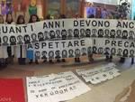 Protesta dei precari del Gaslini