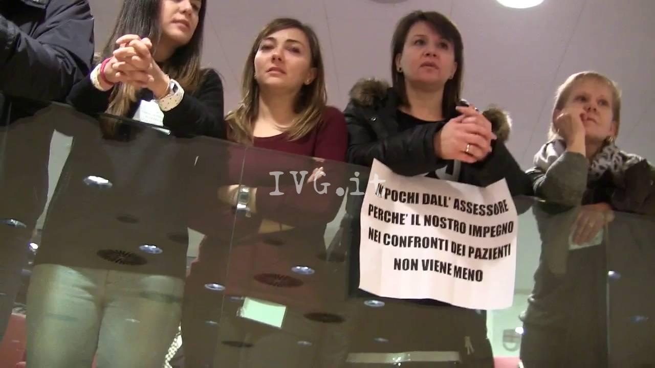Protesta Lavoratori GSL in consiglio Regionale