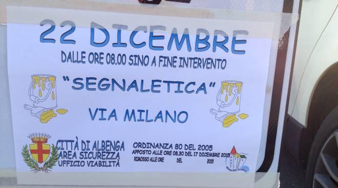 segnaletica Albenga