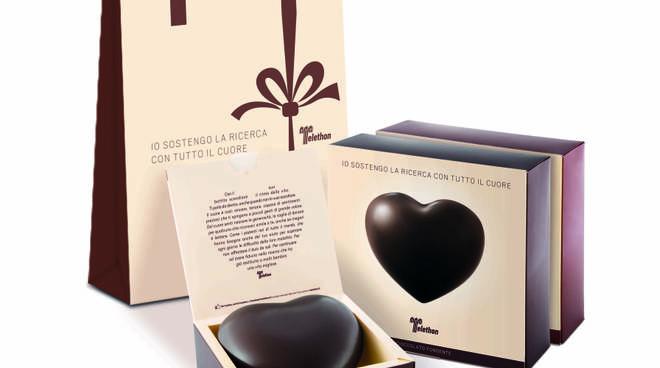 telethon cuore cioccolato