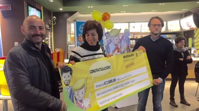 Al McDonald's di Savona premiata la scuola Mignone