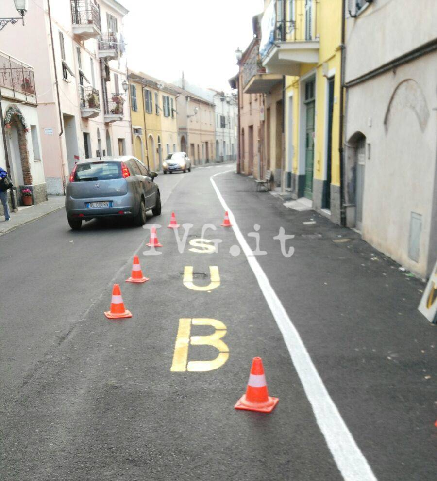 Al via il rifacimento della segnaletica stradale di Leca