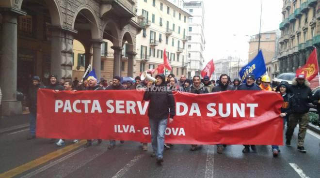 Corteo dei lavoratori Ilva