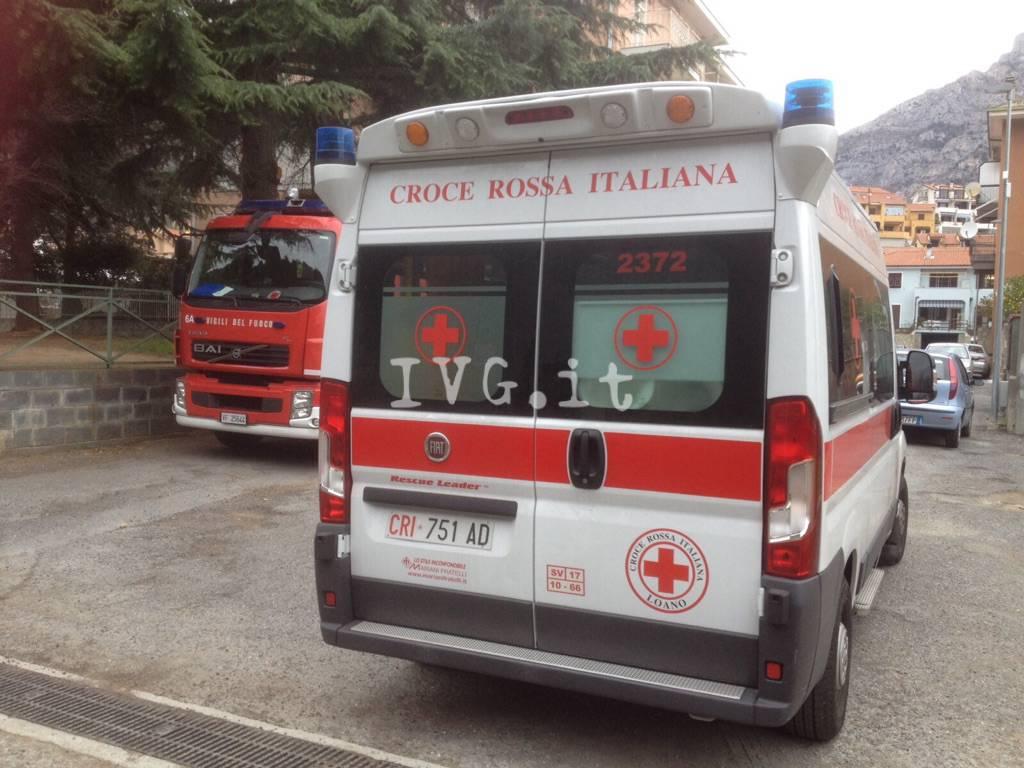 Croce Rossa Loano Vigili del Fuoco Toirano
