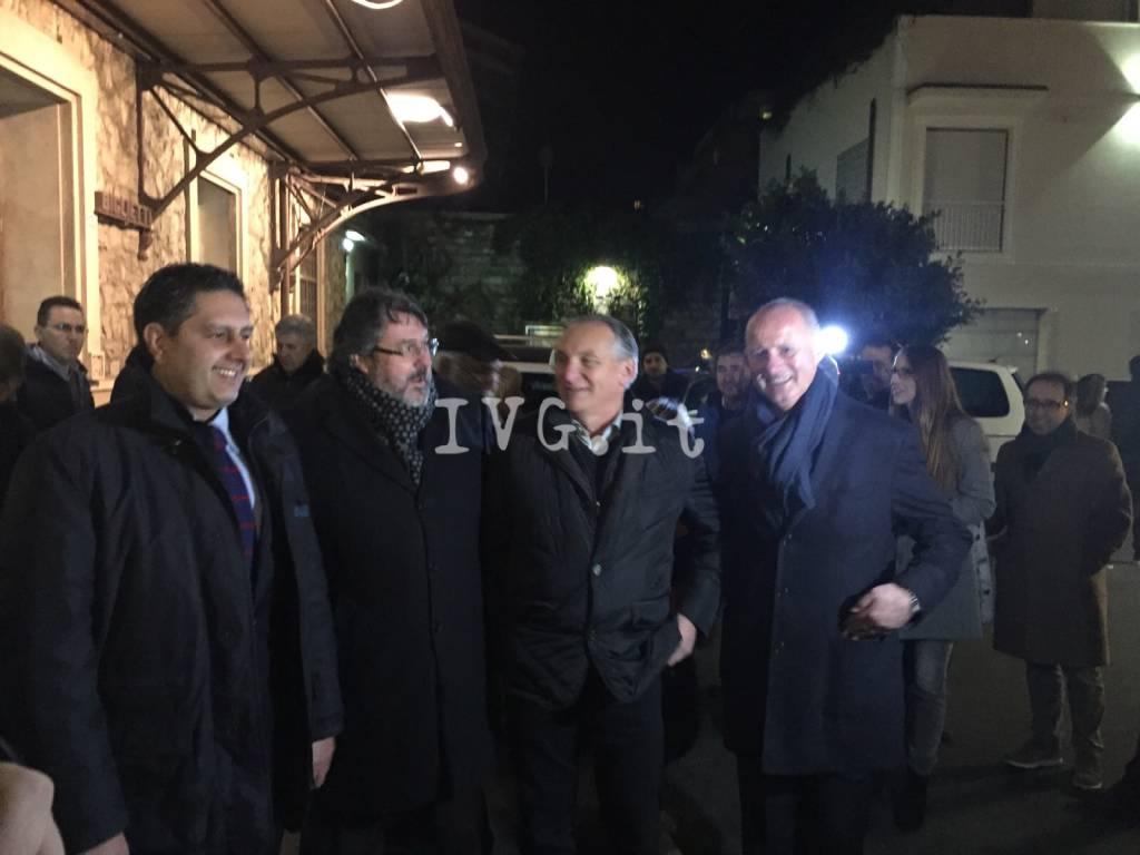 Il presidente della Regione Giovanni Toti in visita ad Alassio