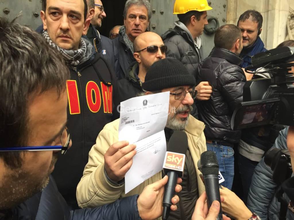 Ilva: Bruno Manganaro con il documento della Prefettura